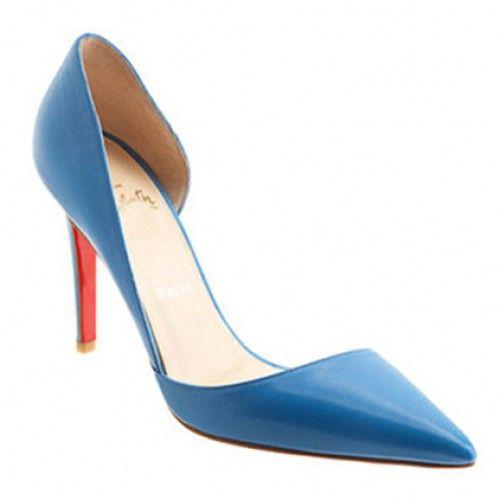 cheap christian louboutin new helmut 100mm leather pumps blue rh pinterest com