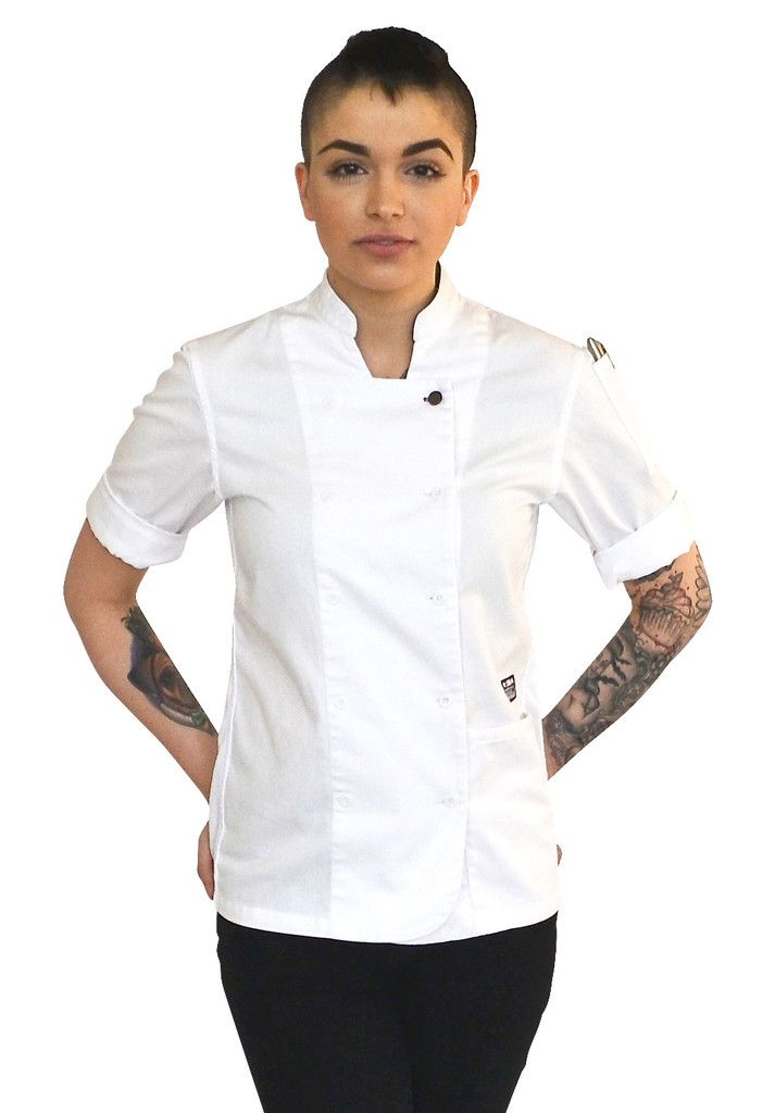 Women's Short Sleeve Chef Coats | Sleeve, iPad and Pants
