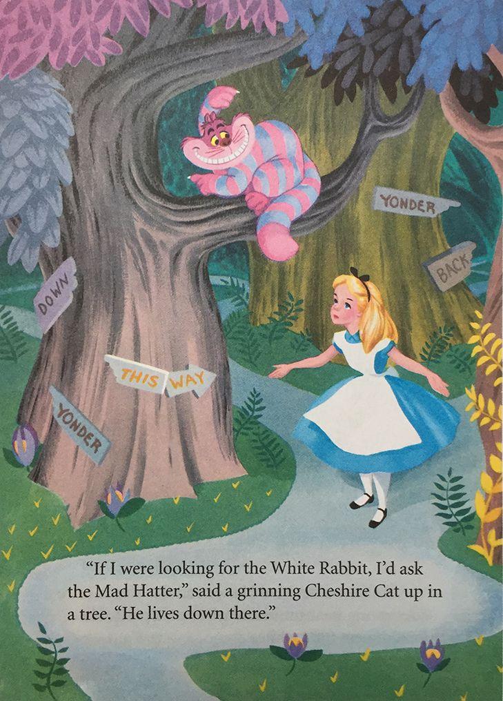 Alice in wonderland book little golden book illustration