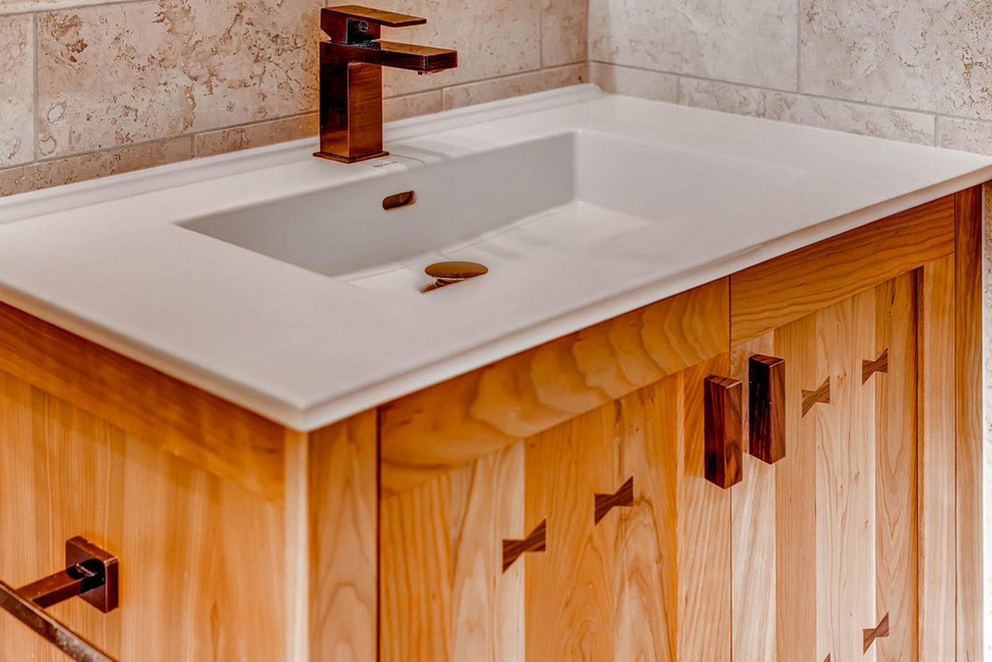 Aquabrass Madison Faucet in custom Tiger Bronze Finish, as seen in ...