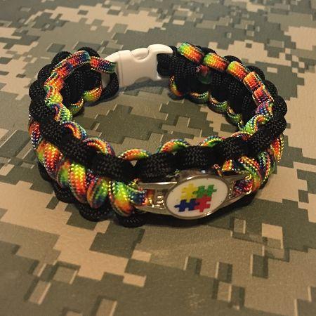 Items Similar To Men Autism Awareness Paracord Bracelet On Etsy