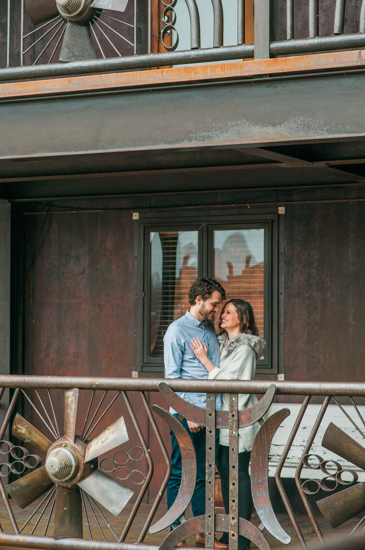 Downtown Durham engagement session. Casual engagement