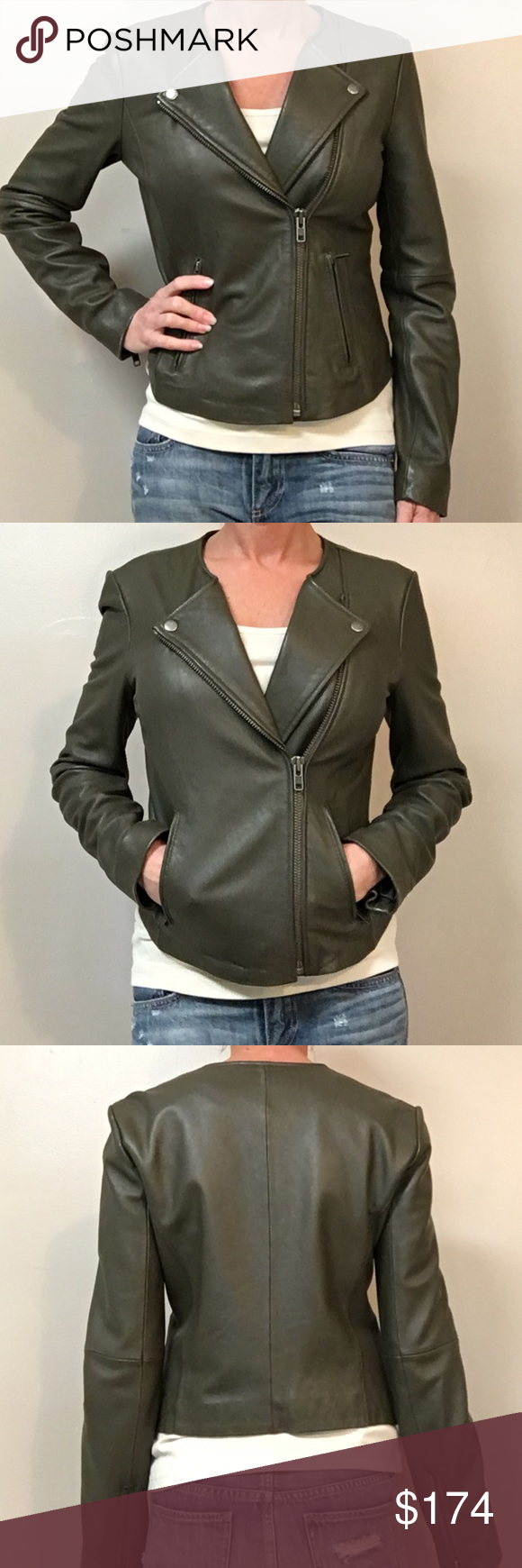 Joie Darnel Leather Jacket Leather Jacket Olive Green Leather Jacket Green Leather Jackets [ 1740 x 580 Pixel ]