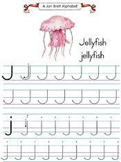 Jan Brett S Alphabet Tracers J Alphabet Alphabet Preschool Alphabet Coloring