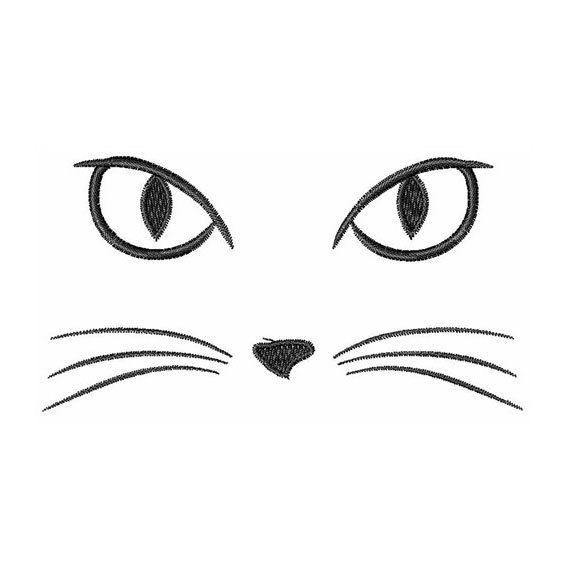 Katzengesicht Maschine Stickerei Design Mit Bildern