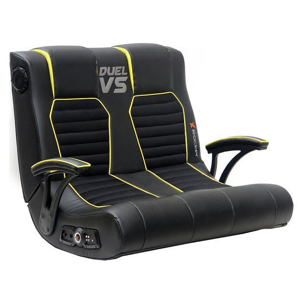 Groovy Buy X Rocker Double Gaming Chair At Argos Co Uk Your Andrewgaddart Wooden Chair Designs For Living Room Andrewgaddartcom