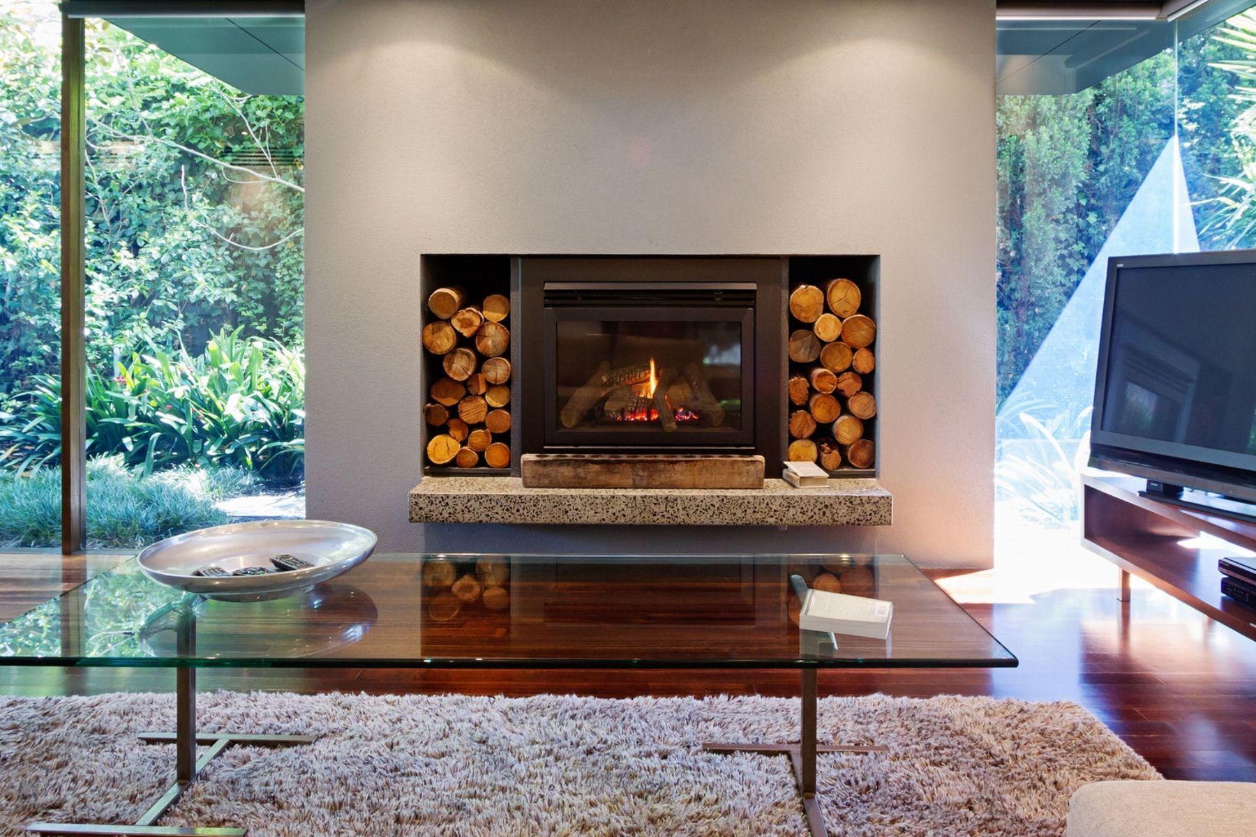 relooker sa chemine crer des rangements pour le bois with chemine relooke. Black Bedroom Furniture Sets. Home Design Ideas
