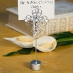 Decorative Cross Religious Place Card Holders