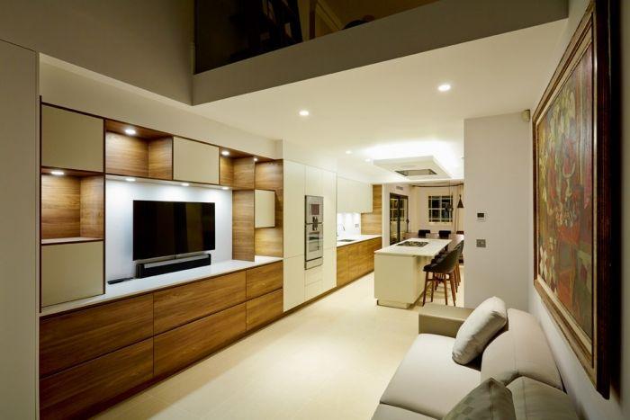 wohnzimmer einrichten - modern und elegant in hellen und dunklen, Hause deko