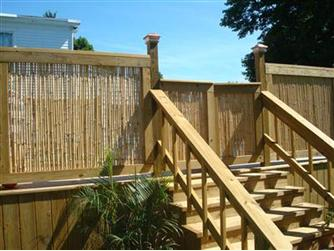 Residential Bamboo Fence Project Fencecenterrocks