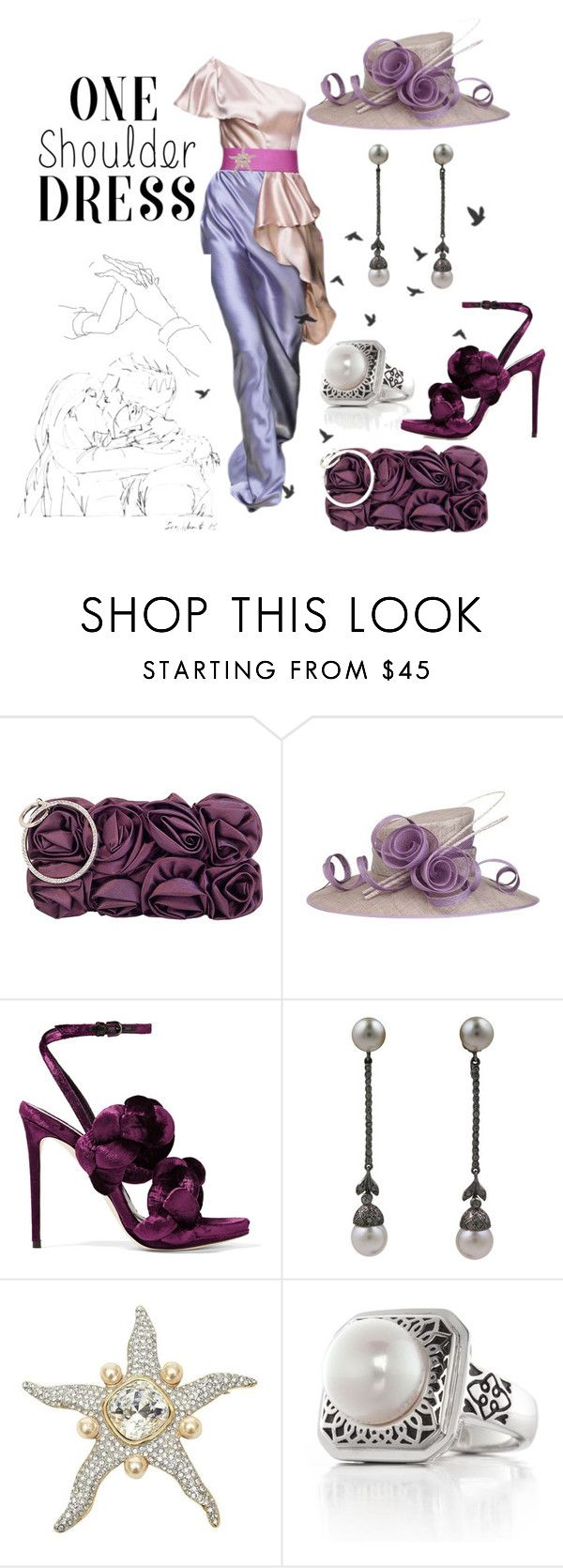 """""""#dress"""" by yblacasa ❤ liked on Polyvore featuring JNB, Marco de Vincenzo, Valentino, Belk & Co., Mon Cheri and dress"""
