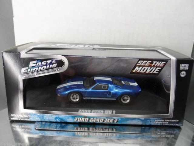 Greenlight Collectibles Mia S Ford Gt40 Mk1 Blue With White