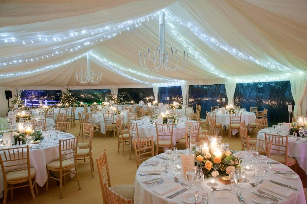 Clear span frame marquee Country house wedding venues