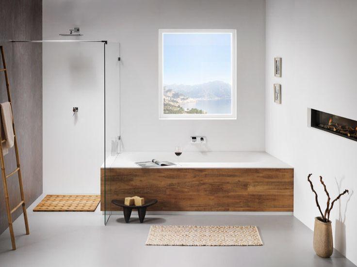 Hout Afwerking Badkamer : Bad met hout afwerken bathroom splash in