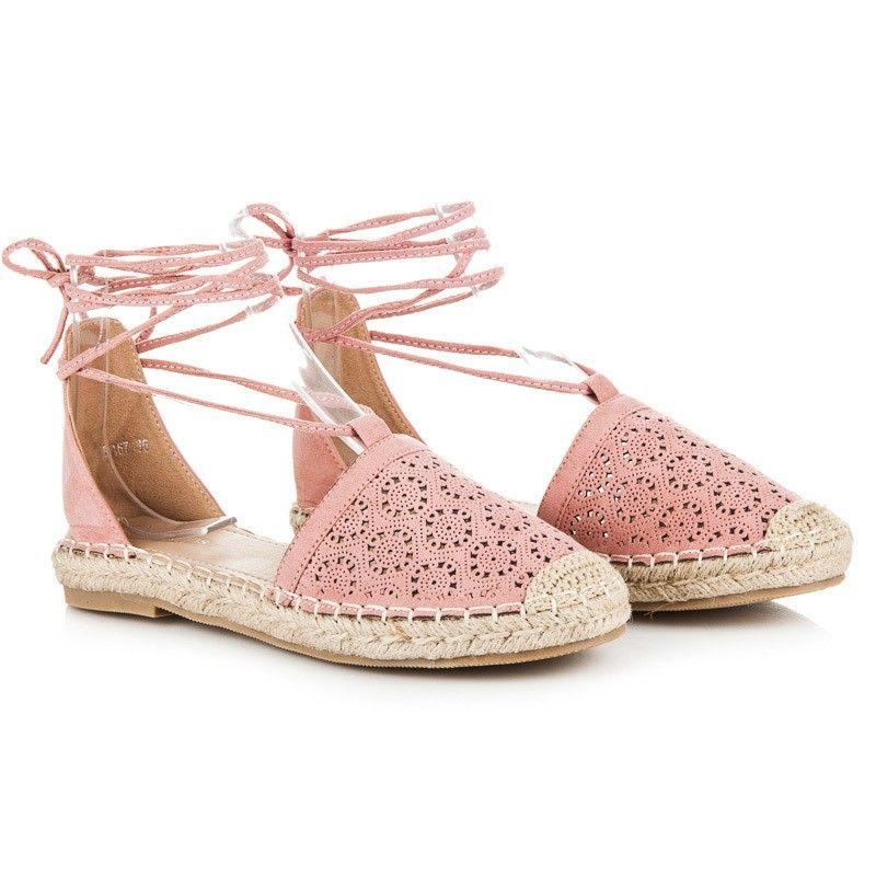 4706eb92c2be2 Šnurovacie sandále espadrilky BA67P | Dámske sandále | Sandále a Topánky