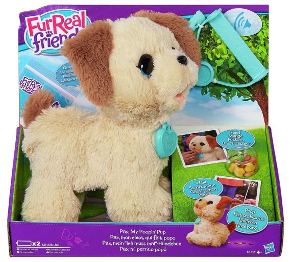 Buy FurReal Pax Pooping Pup Soft Toy At Argoscouk Visit Argos - Dog obsessed with stuffed santa toy gets to meet her idol in real life