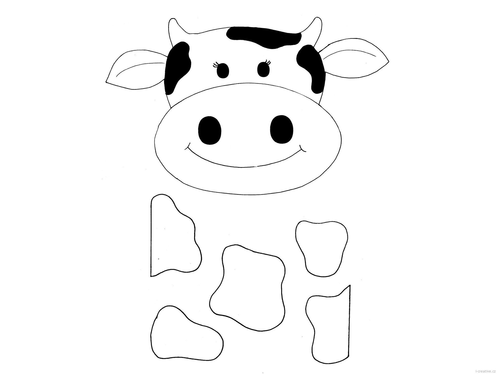 Cows coloring pages to download and print for free | Barnyard Round ...