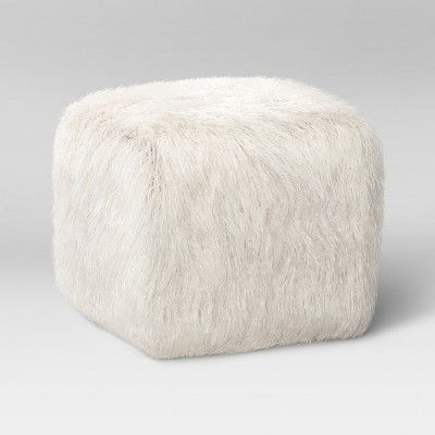 Fine Faux Fur Pouf Ottoman White Room Essentials Products Short Links Chair Design For Home Short Linksinfo