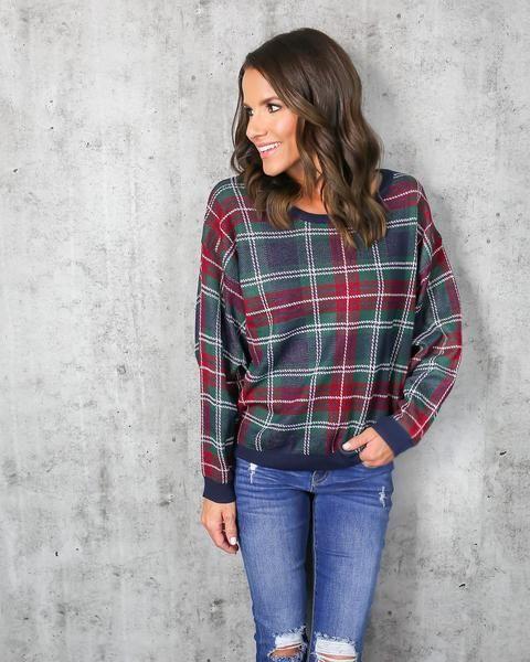 Cedar Plaid Sweater