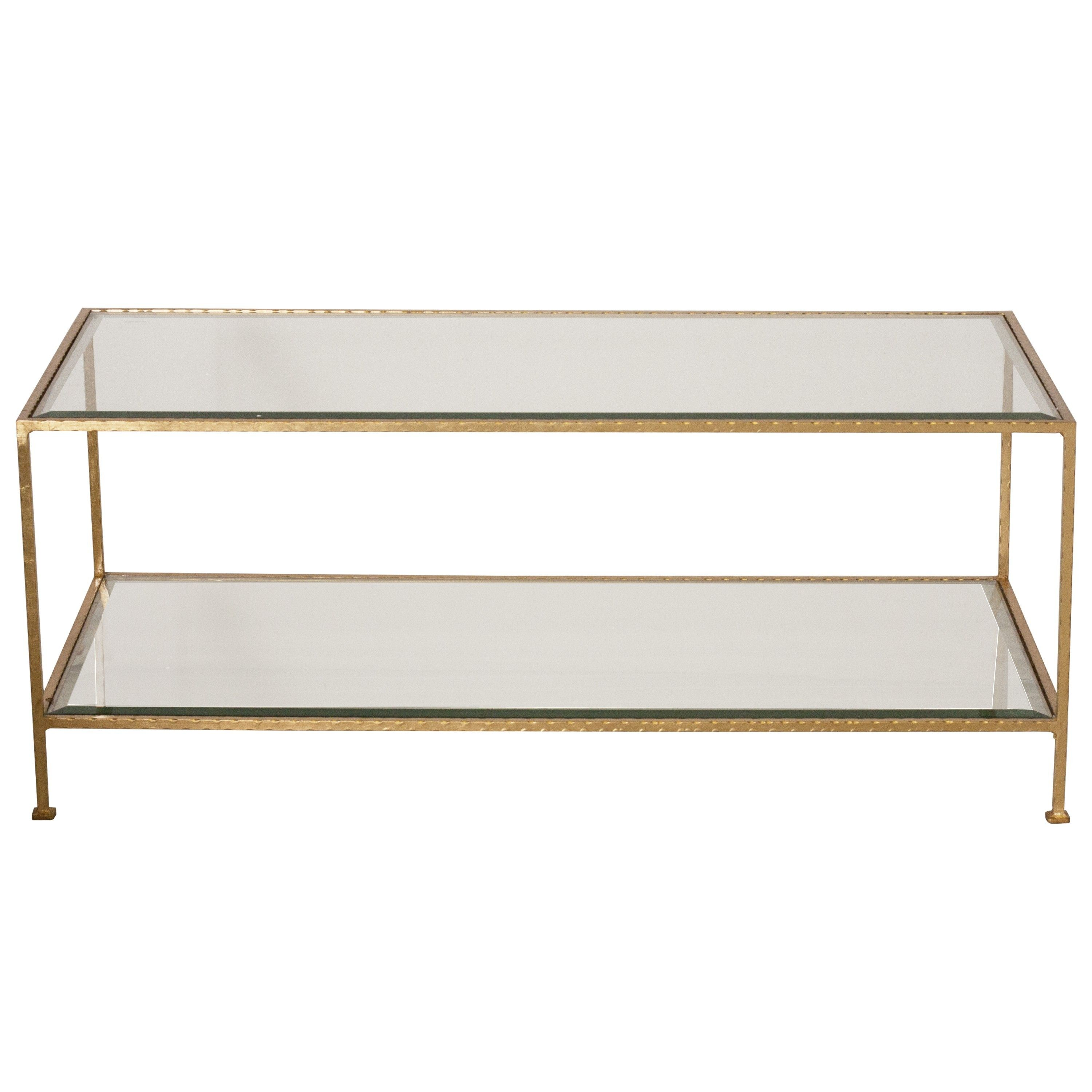 Worlds Away Taylor Gold Coffee Table