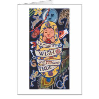 We made a WISH and YOU came TRUE Card