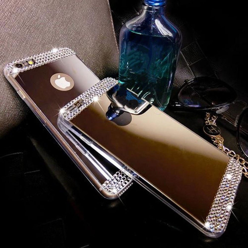 Luxury Bling Mirror Soft Gel Case For Iphone 6 6s Plus Products Anti Crack Shock Softcase Ultrathin Clear Tpu Check Out The Rhinestone This Is A Must Have Everybody Who Loves Features Design Apple Use
