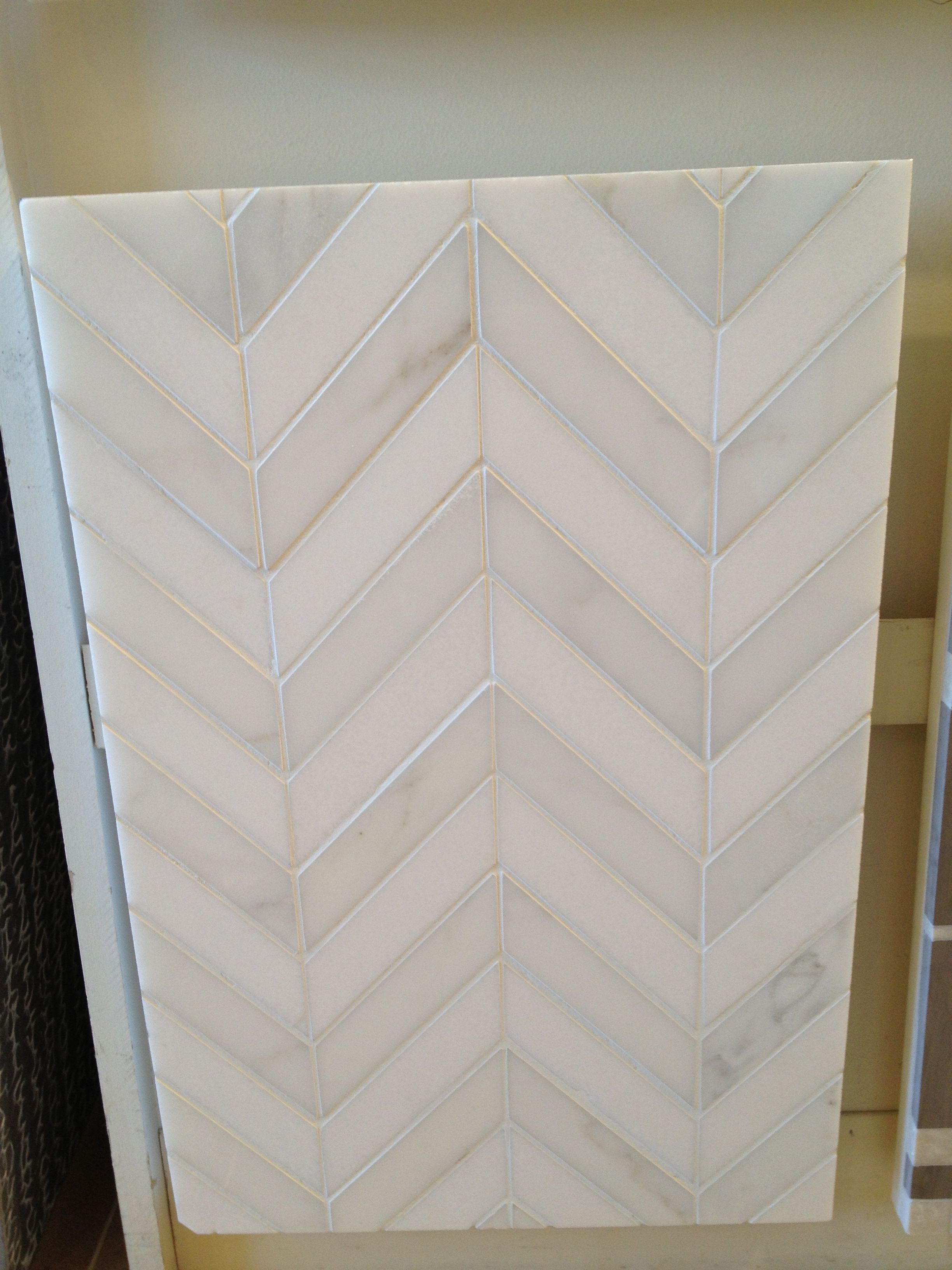 Kitchen backsplash tile chevron tile pattern yes please