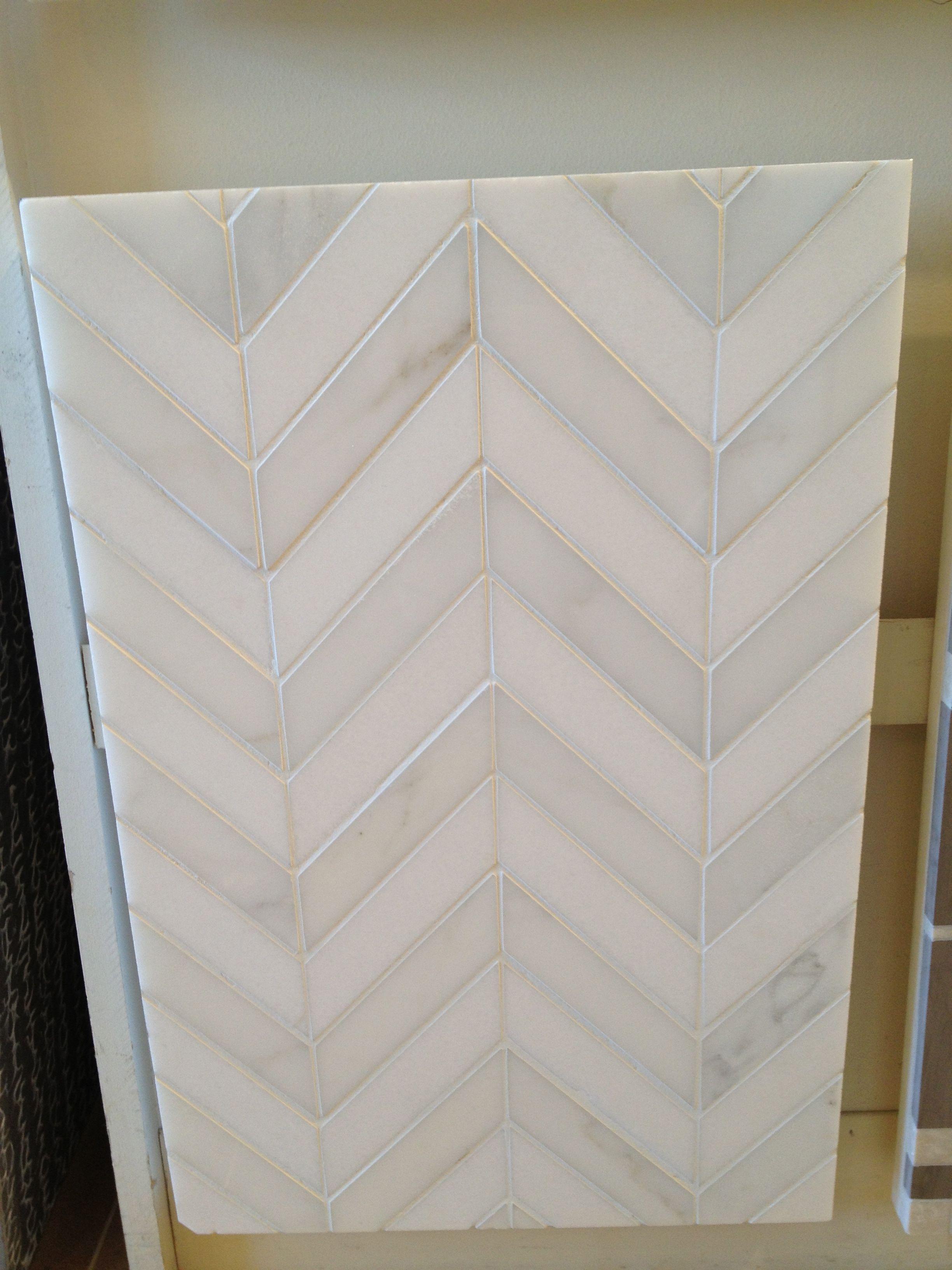 Kitchen: Backsplash Tile...chevron tile pattern...yes ...