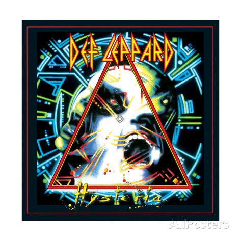 Def Leppard Hysteria 1987 Poster By Epic Rights At Allposters Com Rock Album Covers Def Leppard Albums Def Leppard Poster