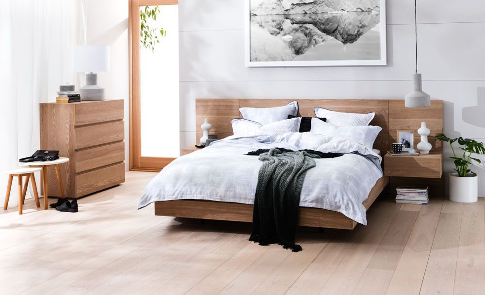 Barwon Queen Size Bed W Bedsides Bedroom Furniture Forty Winks