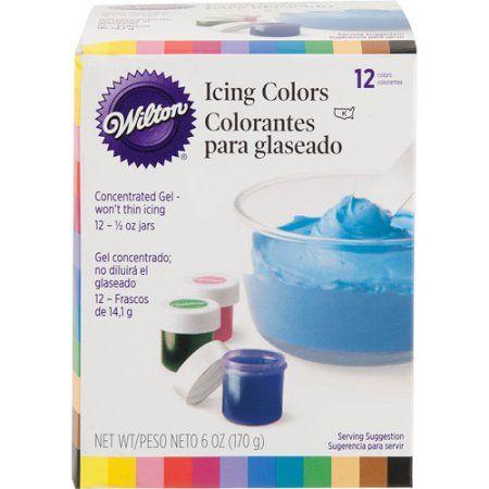 Wilton Vivid Gel Food Coloring (12 Piece Set) at Walmart $10 ... Use ...