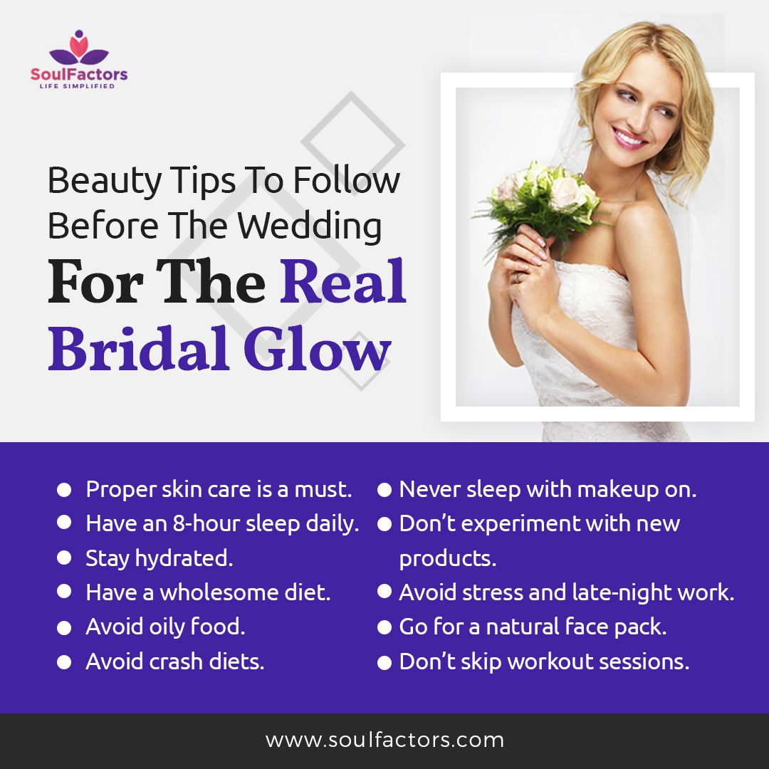 Beauty Tips To Follow Before The Wedding  Bridal skin care, Pre