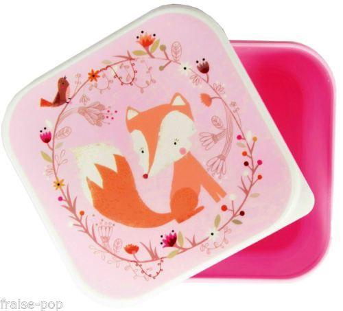boite herm tique renard plastique alimentaire pastel lunch box go ter 25. Black Bedroom Furniture Sets. Home Design Ideas