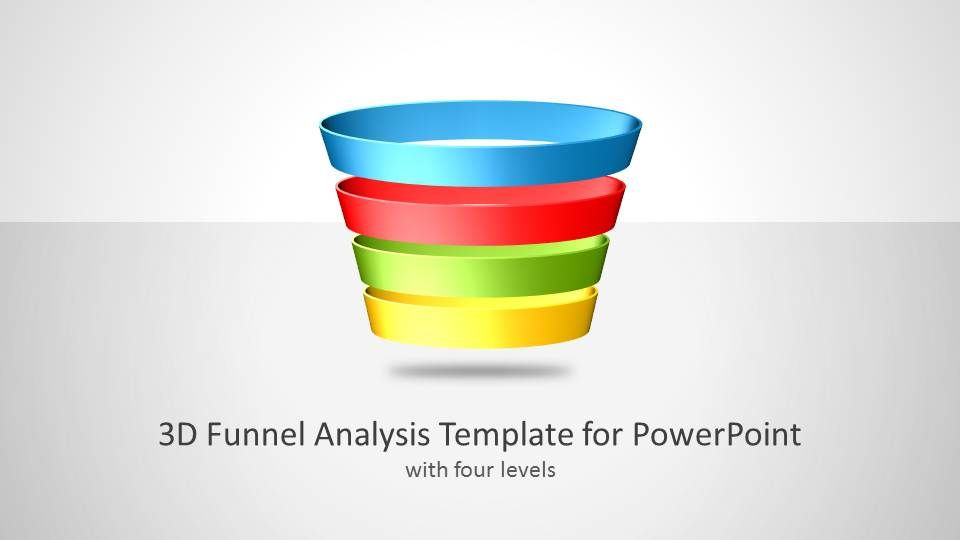D Funnel Analysis Template For PowerPoint Pinterest Diagram - Awesome funnel image powerpoint concept