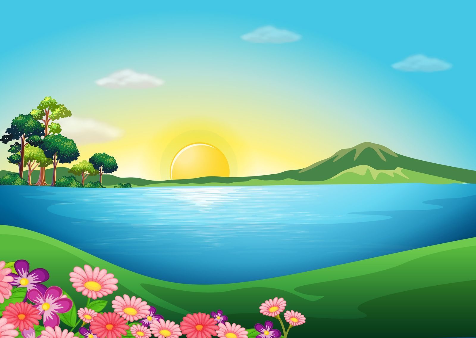 Clipart Images Scenery Background Landscape Paper Owl Cartoon