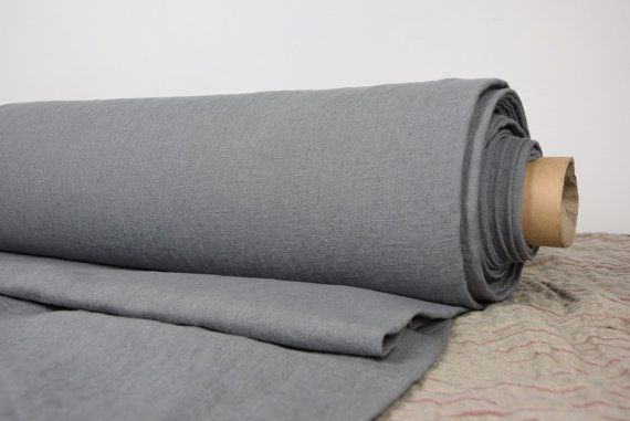 Pure linen fabric, heavy and thick, dense, not sheer, crumpled, homespun with imperfections in the woven threads. On the other hand ir is quite smooth and soft, nice drape. Suitable for heavy clothes (pants, jackets, coats) and for many other textile (tablecloths, cloth napkins, pillow cases, summer blankets, bedspreads, sofa and chair covers, cushions, aprons, kitchen tea towels, bath robes, bags, etc - very wide usage). The price per 1 meter (1.1 yard) of this fabric (width 145cm=57) is…