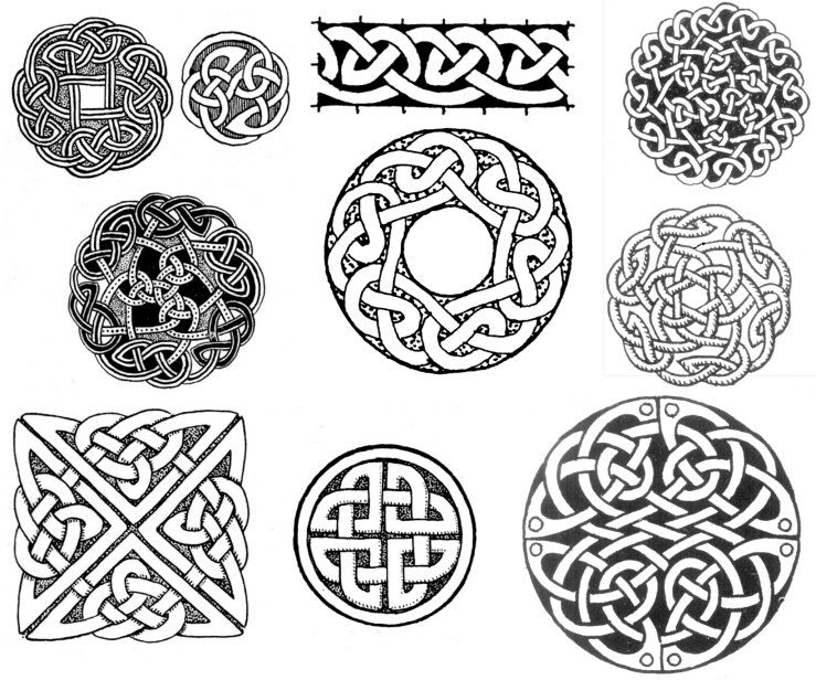 Celtic Circle And Square Knot Designs Tattoos Pinterest Celtic Magnificent Celtic Knot Patterns