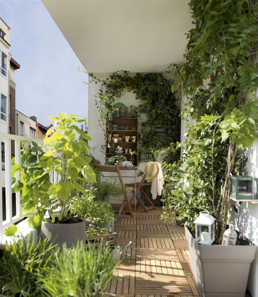 good idea // Leroy Merlin : Aménager une petite terrasse sans l ...