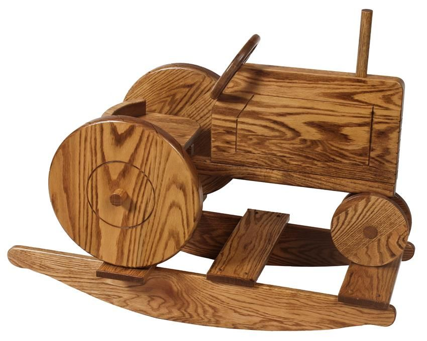 Surprising Amish Hardwood Childs Tractor Rocker Let Little Ones Ocoug Best Dining Table And Chair Ideas Images Ocougorg