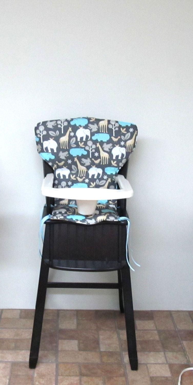 wood chair pad, highchair cover, Eddie Bauer newport