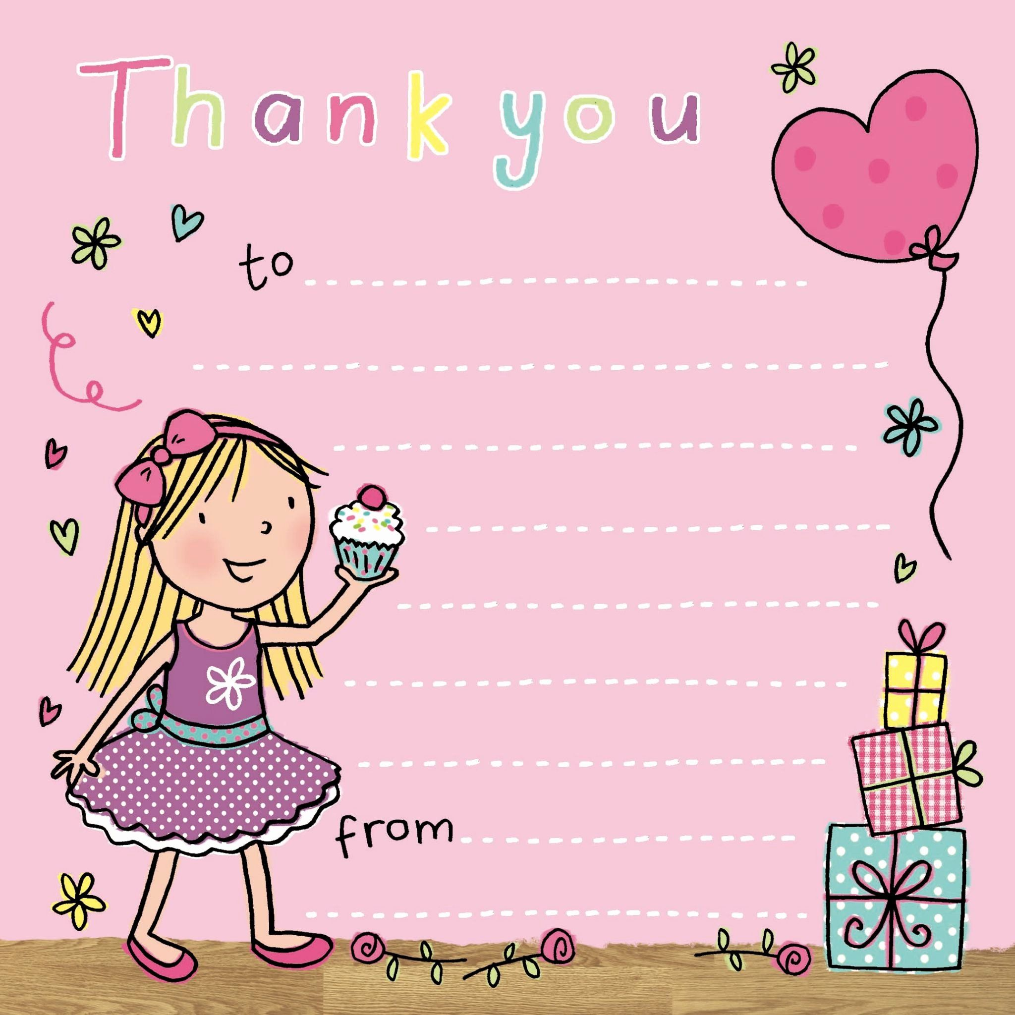 Thank You Cards Birthday Girl Awesome Thank You Notes for