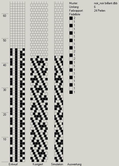 Schlauchketten häkeln - Musterbibliothek: pat_bcr_30_gd   scheme ...