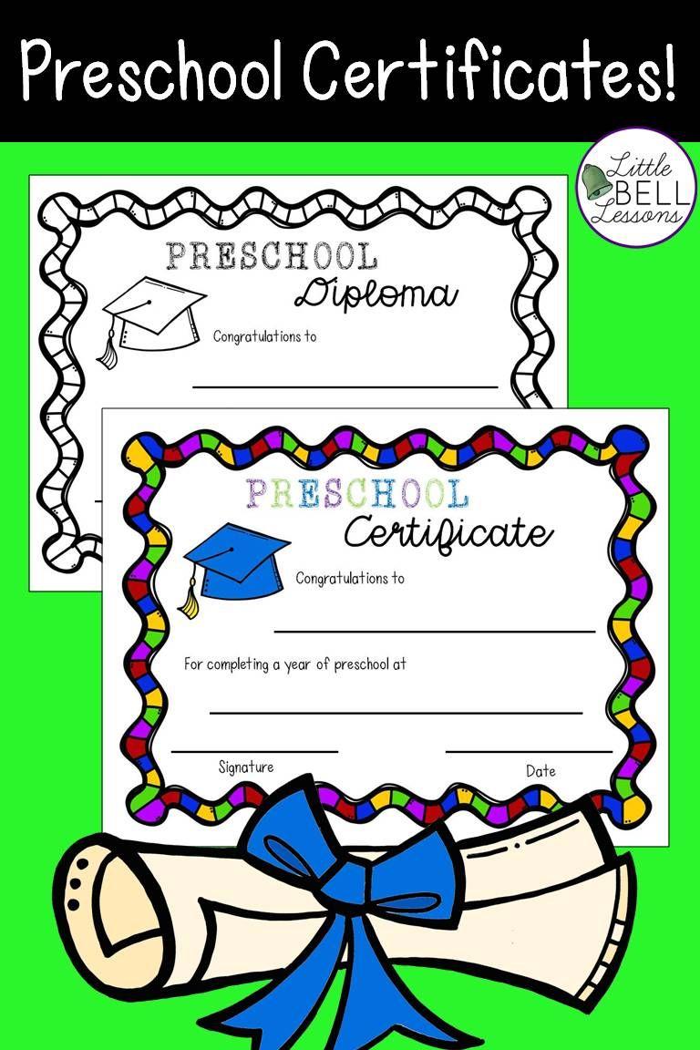 Preschool Certificates Diplomas For Graduation Preschool Certificates Preschool Graduation Pre School Graduation Ideas [ 1152 x 768 Pixel ]