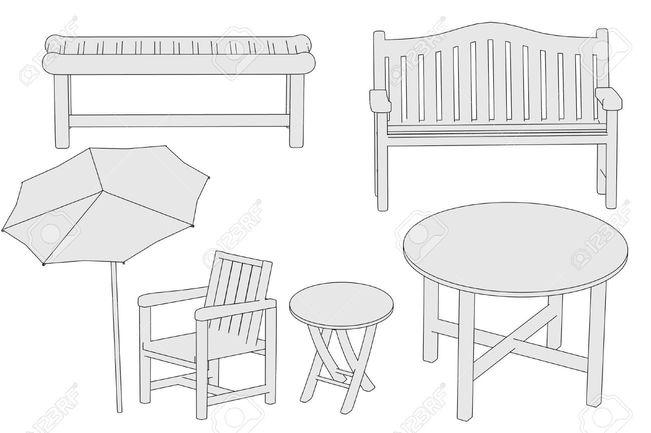 Emejing Dessin De Table De Jardin Images - Antoniogarcia.info ...