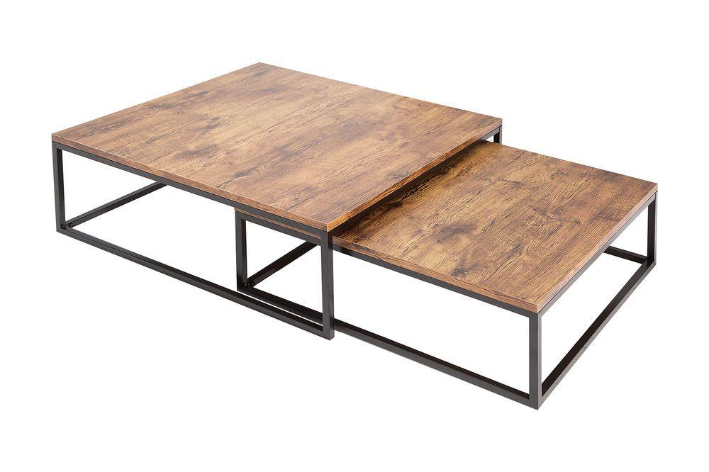 Couchtisch Wohnzimmertisch Beppo V1 2er Set Wohnzimmer Holzoptik Schwarz Natur Mobel Wohnen Mobel Tisch Couchtisch Beistelltisch 2er Set Wohnzimmertische