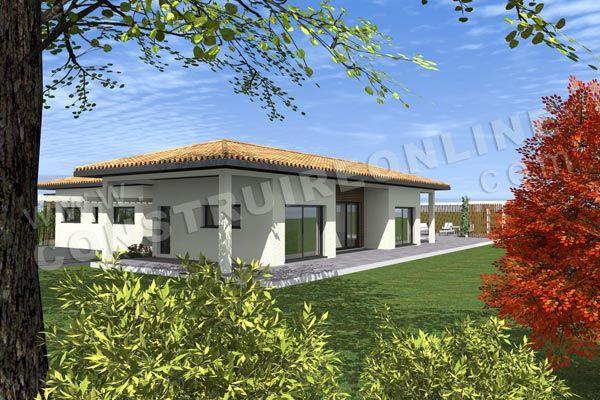 plan maison moderne arriere AGORA maison Pinterest Architecture