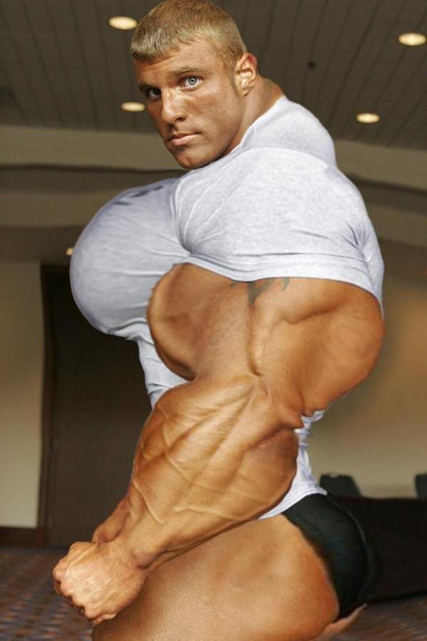 Huge morphed muscle pecs gay