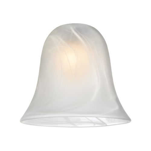 Alabaster Bell Glass Shade Lipless With 1 5 8 Inch