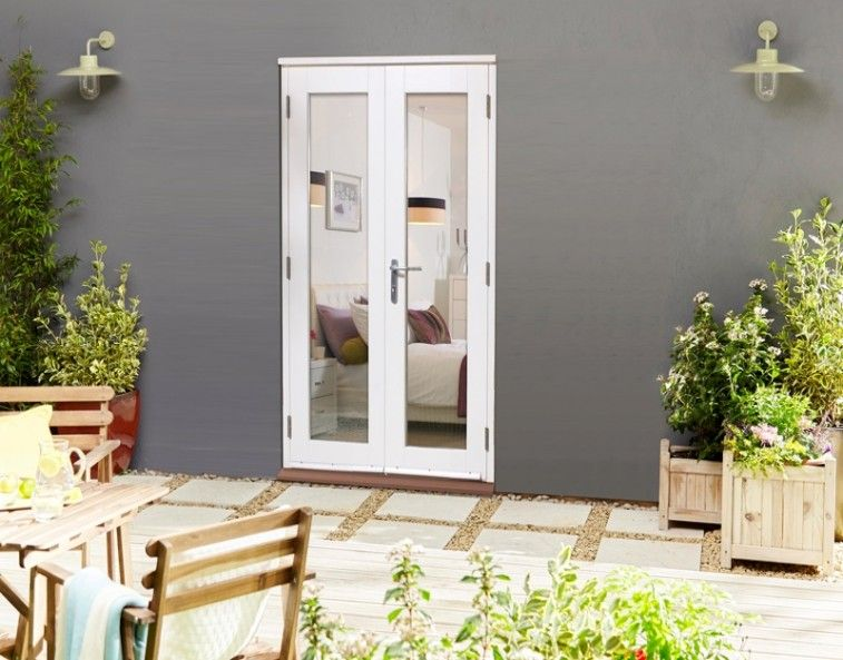 1200mm 4ft Classic White 58mm French Doors French Doors French Doors Exterior Oak French Doors