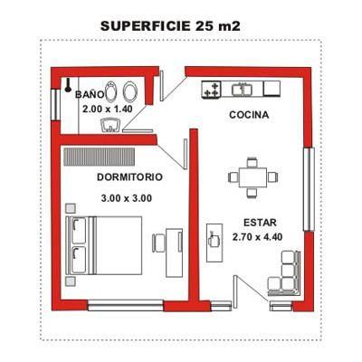 Planos de 20m2 buscar con google casa adri pinterest for Planos de cocinas pequenas y sencillas